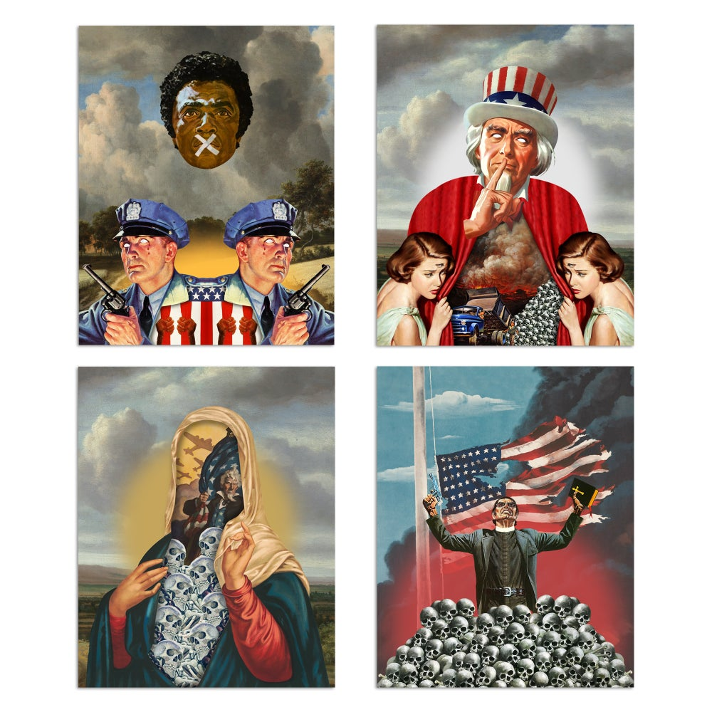 "this is america 8""x10"" 4 print set"