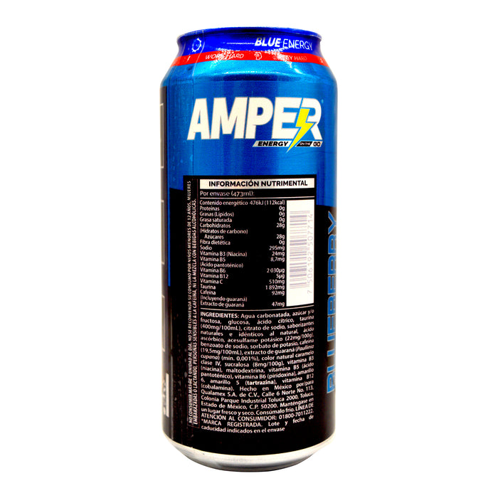Amper Blueberry 473 Ml (Caja 24)