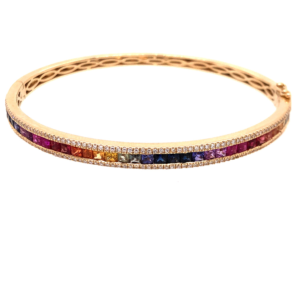 Rainbow Sapphire (Bright) Bangle