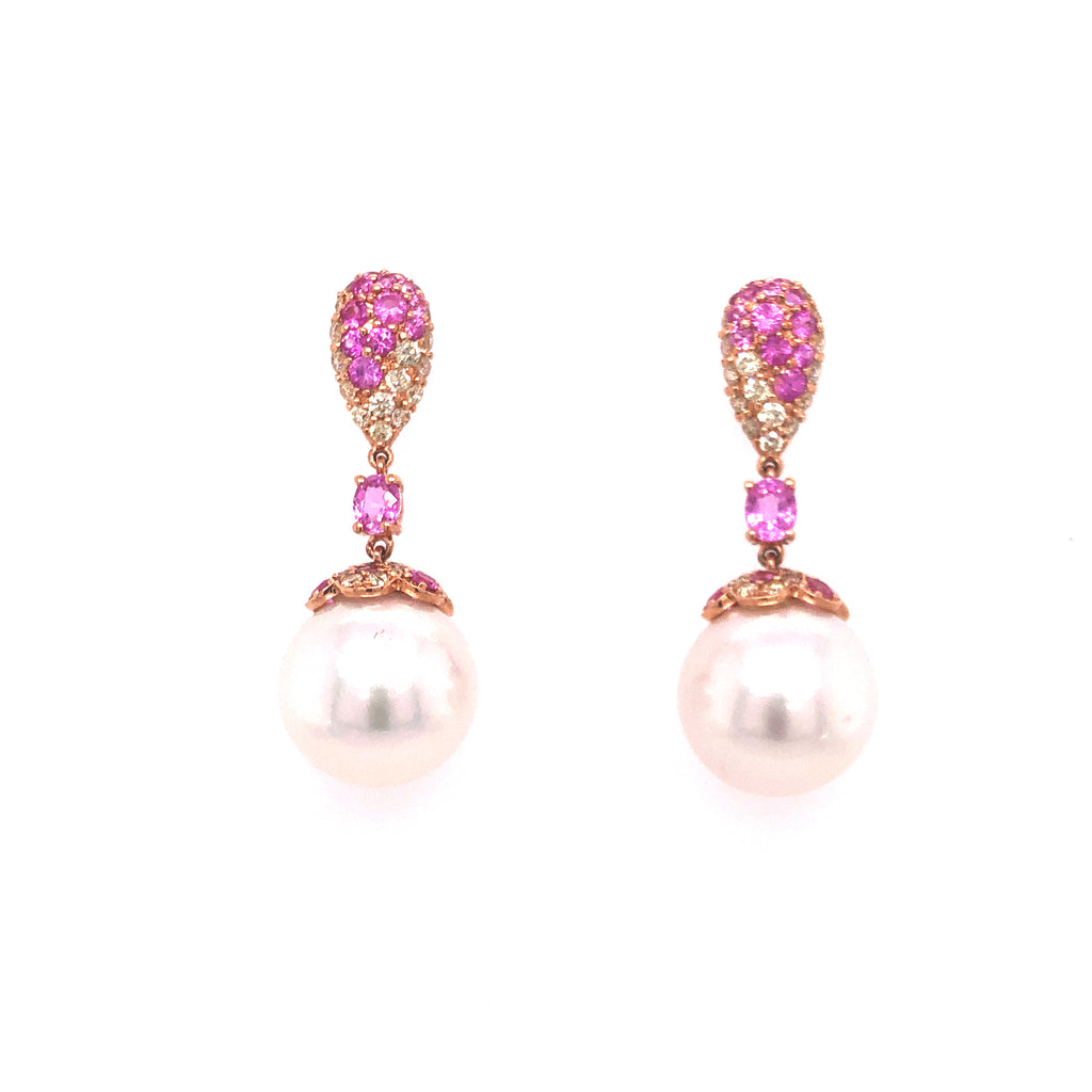 Pink Sapphire South Sea Pearls