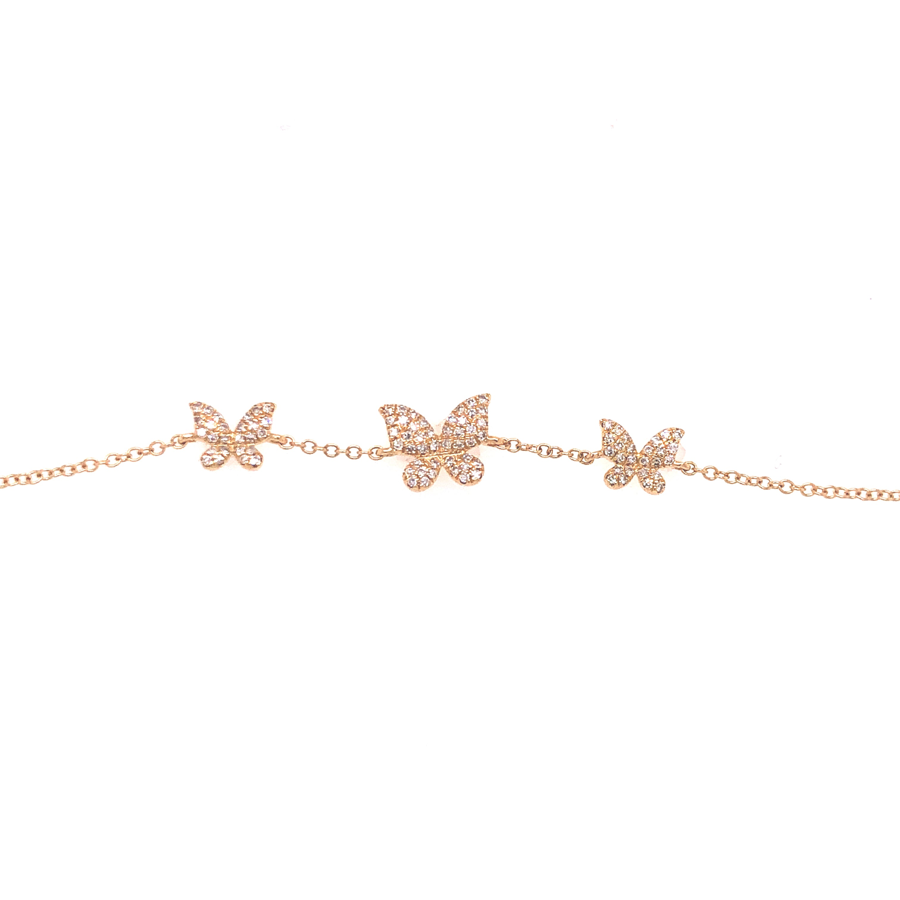 butterfly diamond bracelet yellow gold