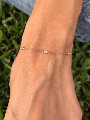 Single Stone Diamond Bracelet