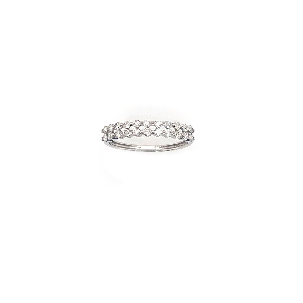 Double Bezel Strand Ring