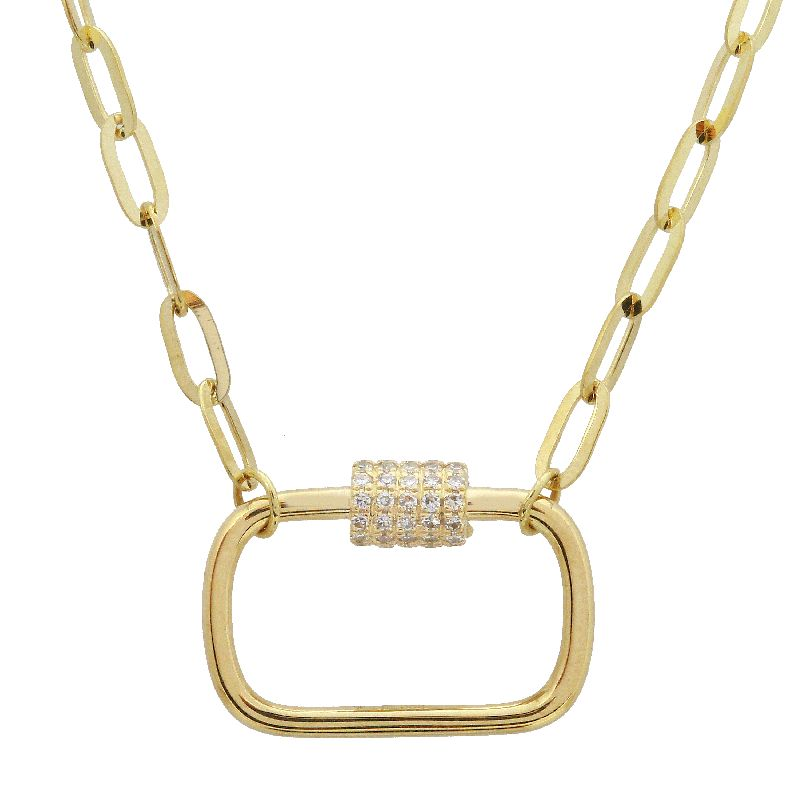 Screw Clasp Link Diamond Chain