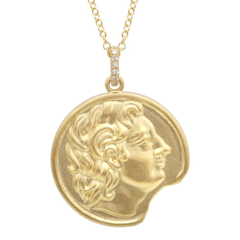 Gold Coin Diamond Pendant