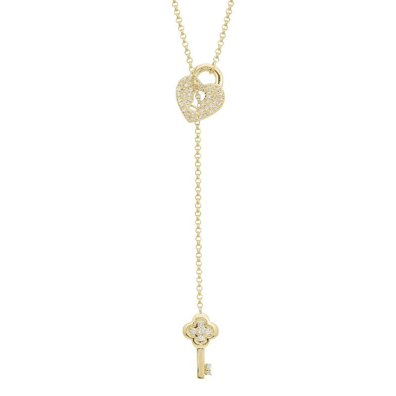 Gold Lock Diamond Necklace