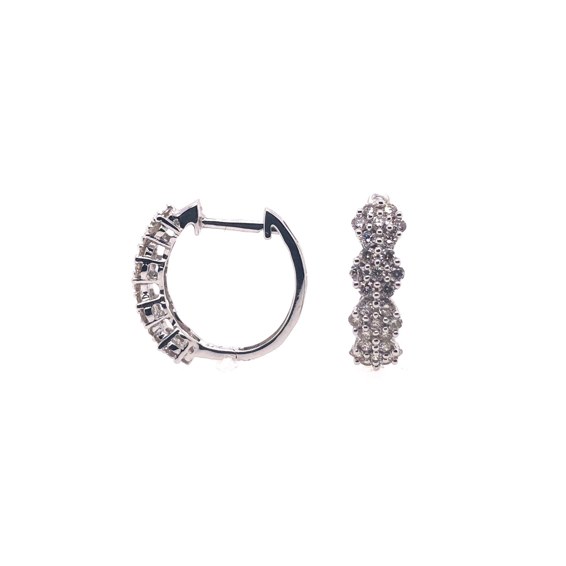 4 Flower Diamond Hoop