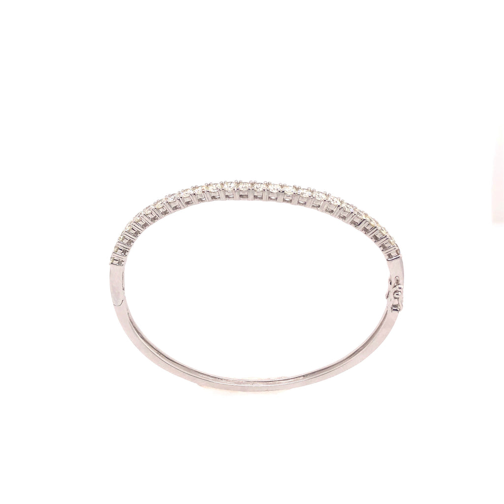 Curved Diamond Bangle