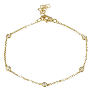 Snake Diamond Bracelet Yellow Gold