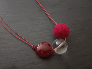 Adjustable 3 ball Necklace - 3 colour ways