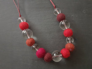 Adjustable Marble Necklace - Other Colours Available