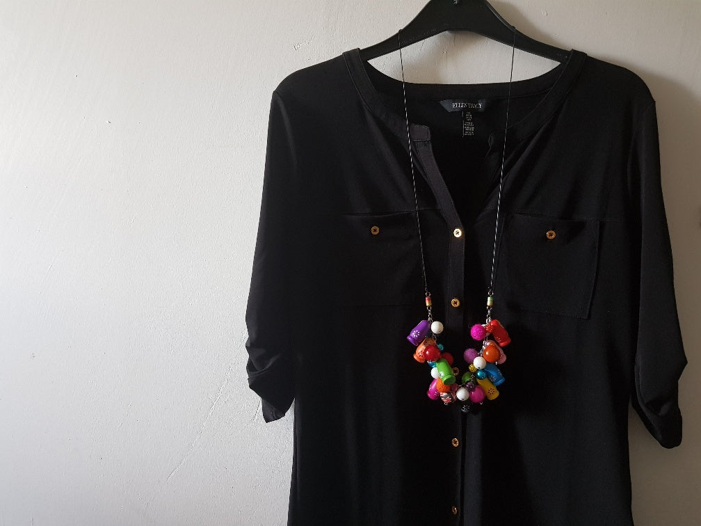 Fiesta Babushka Fun statement necklace.