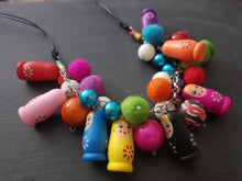 Load image into Gallery viewer, Fiesta Babushka Fun statement necklace.