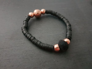 Rose Gold Hematite Polymer Bracelet - Other colours available