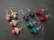 Load image into Gallery viewer, Geo Marble Half Earring - Other Colours Available