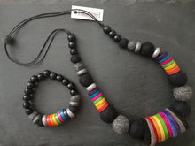 Load image into Gallery viewer, Rainbow Block Necklace