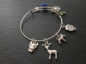 Scottish animal charm bracelet