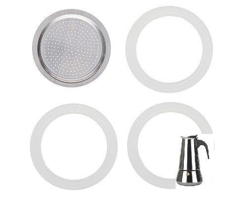Stove-top espresso makers silicone gaskets & filter