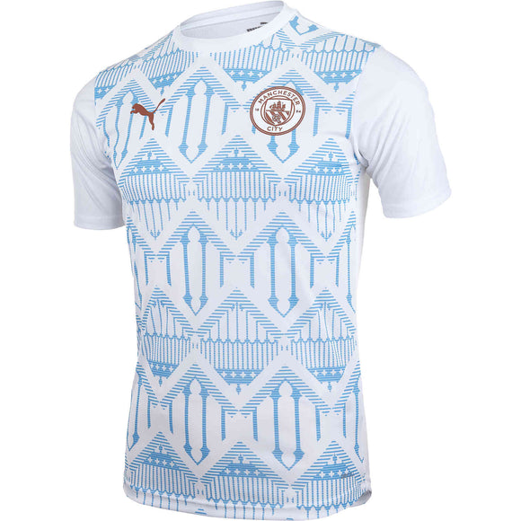 Manchester City Pre-Match White Jersey 20/21