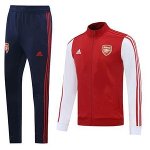 20/21 Arsenal White/Red Tracksuit - Jersey Loco