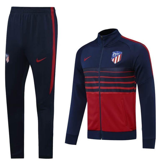 20/21 Atletico Madrid Dark Blue/Red Tracksuit - Jersey Loco