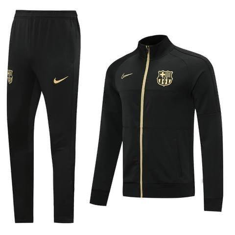 20/21 Barcelona Black & Gold Tracksuit - Jersey Loco