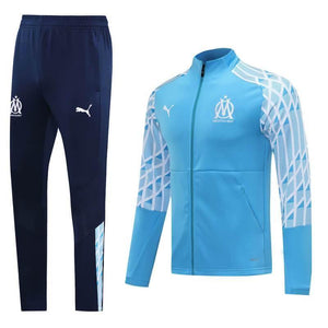 20/21 Marseille Light Blue Tracksuit - Jersey Loco
