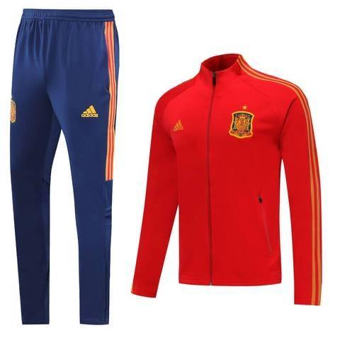 20/21 Spain Red/Yellow Tracksuit - Jersey Loco