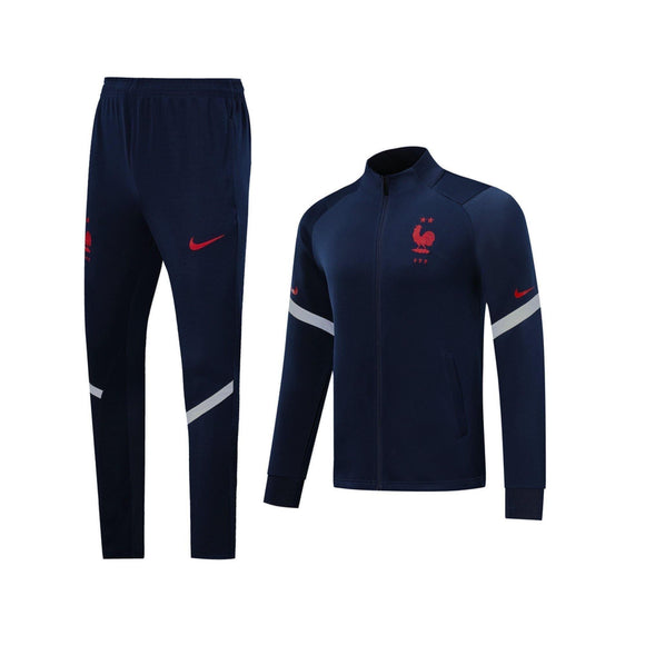 20/21 France Dark Blue Tracksuit - Jersey Loco