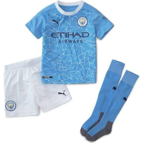 20/21 Manchester City Home Kids Kit - Jersey Loco