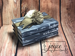 Book Stack Home Decor