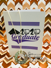"Load image into Gallery viewer, ""Class of 2020"" Etched Washer Necklace & card"