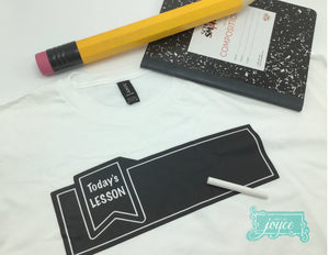 Chalkboard Shirt - Back to School Designs