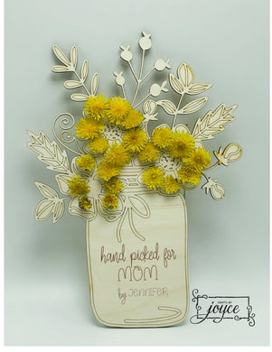 Hand Picked Flowers Holder