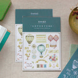 Hot Air Balloon Sticker and Card