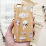 Medical Art Wood Phone Case