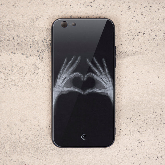 X Ray Glass Phone Case-Heart