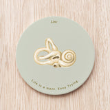 Bony labyrinth of Inner Ear Ceramic Coaster
