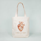Multi Pocket Canvas Bag - Heart
