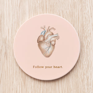 Heart Ceramic Coaster