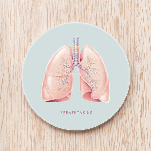 Lung Ceramic Coaster