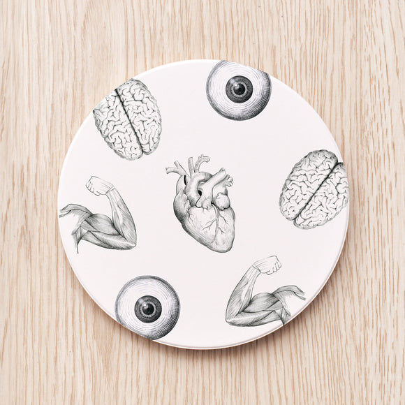 Black & White Medical Art Coaster
