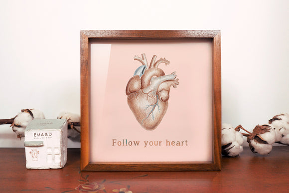 Heart Wood Light Box