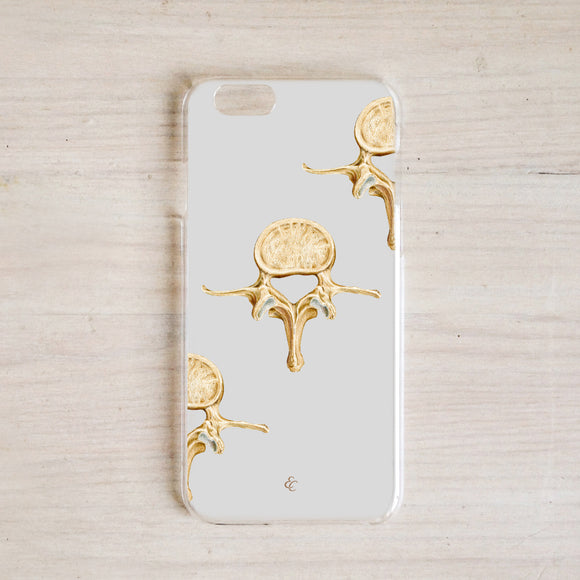 Lumbar Vertebrae Phone Case