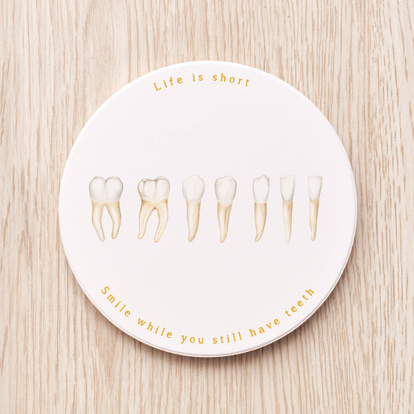 Teeth Ceramic Coaster