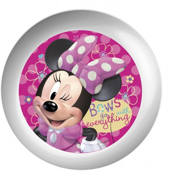 bordje Minnie Mouse melamine 22 cm wit