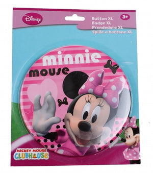 button XL Minnie Mouse 14 cm roze
