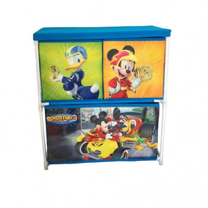 Mickey Mouse opbergkast met 3 lades 60 cm blauw