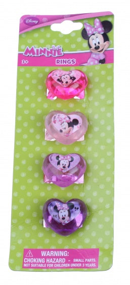 ringen Minnie Mouse 15 mm 4 stuks multicolor