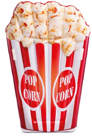 luchtbed Popcornmat 178 x 124 cm rood/wit